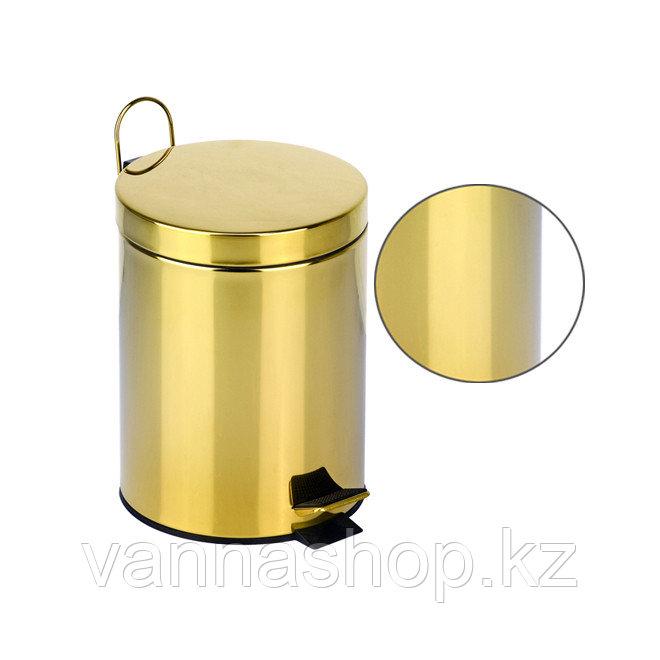 Педальная урна (золото) 5 литров
