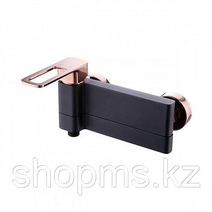Смеситель IDDIS SLIDE SLIBG00l02 Ванна Чёрный/Розовое золото, фото 2