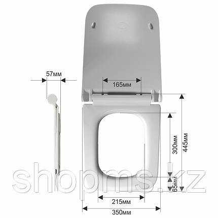 Сиденье для унитаза дюропласт с микролифтом, белое MELANA B2370Sa, фото 2