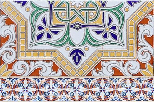 Керамическая плитка Шахтинская Андалусия син низ 04(200х300)