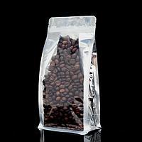 Пакет Zip-lock Крафт с прозрачной вставкой 14*24 см