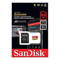 Карта Памяти Sandisk Extreme 100MB/S, Тип: microSDXC, 64 Гб
