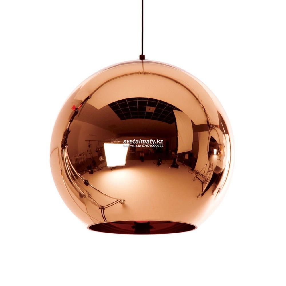 Одноламповый светильник глянцевая медь