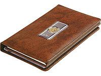 Записная книжка с визитницей Голова льва Luigi Pesaresi, коричневый