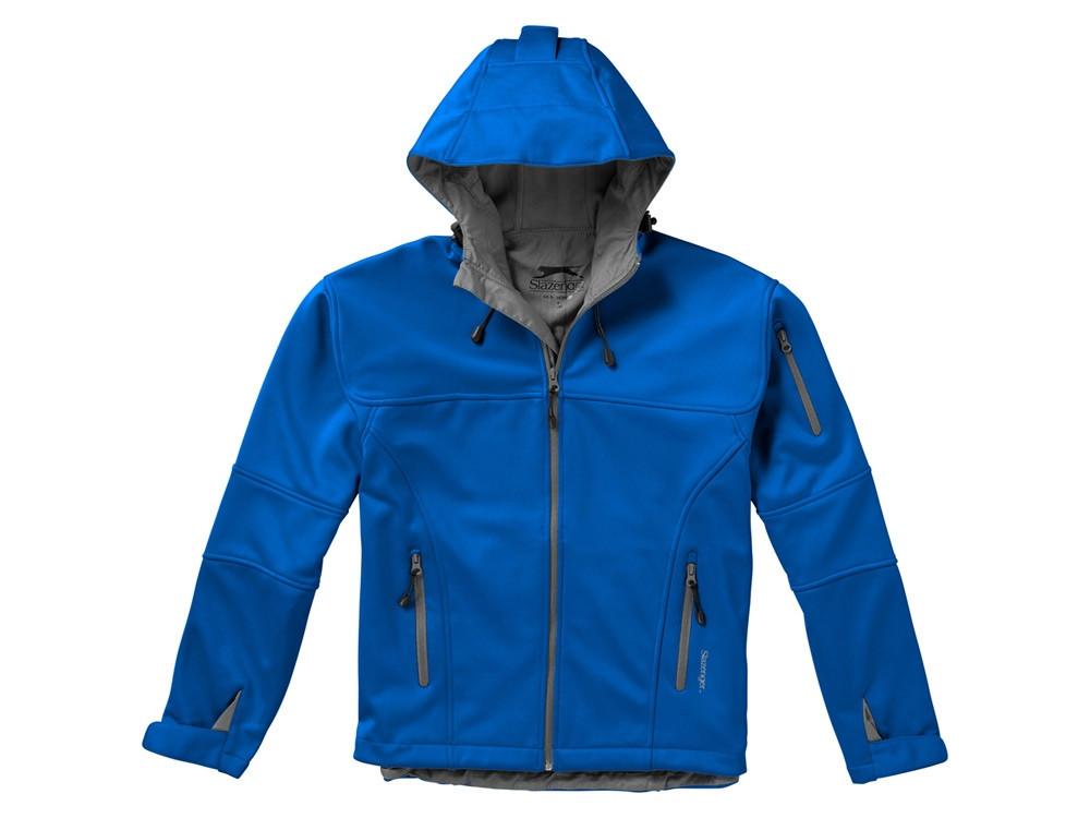 Куртка софтшел Match мужская, небесно-синий/серый - фото 3