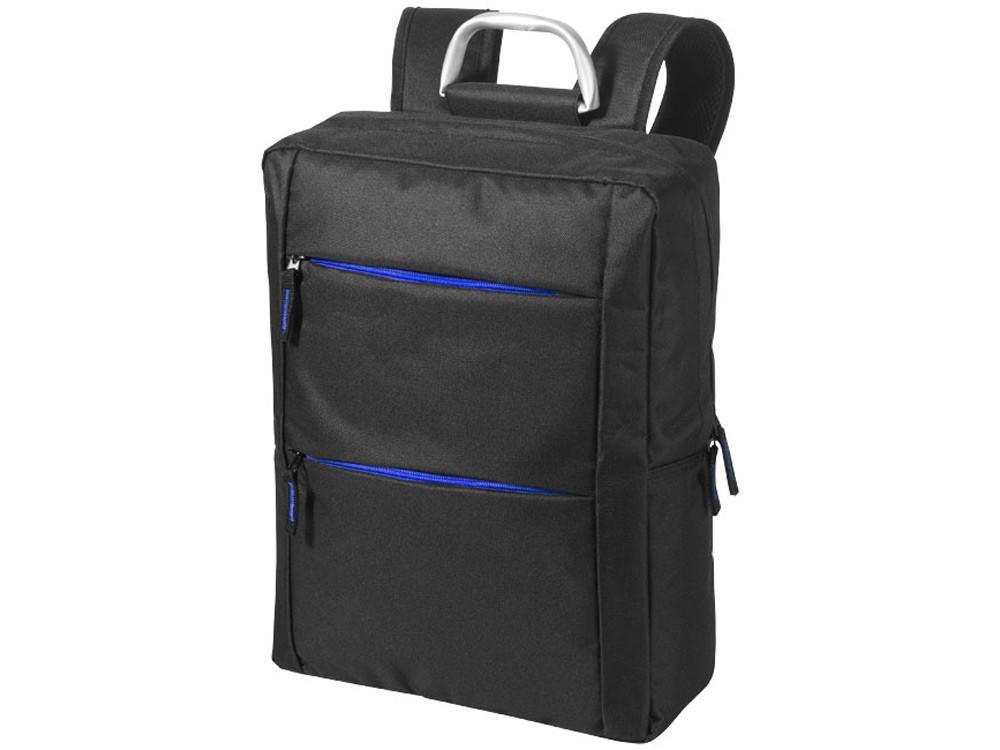 Рюкзак Boston для ноутбука 15,6, черный/ярко-синий - фото 1