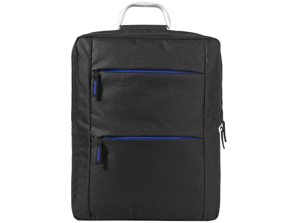 Рюкзак Boston для ноутбука 15,6, черный/ярко-синий - фото 2