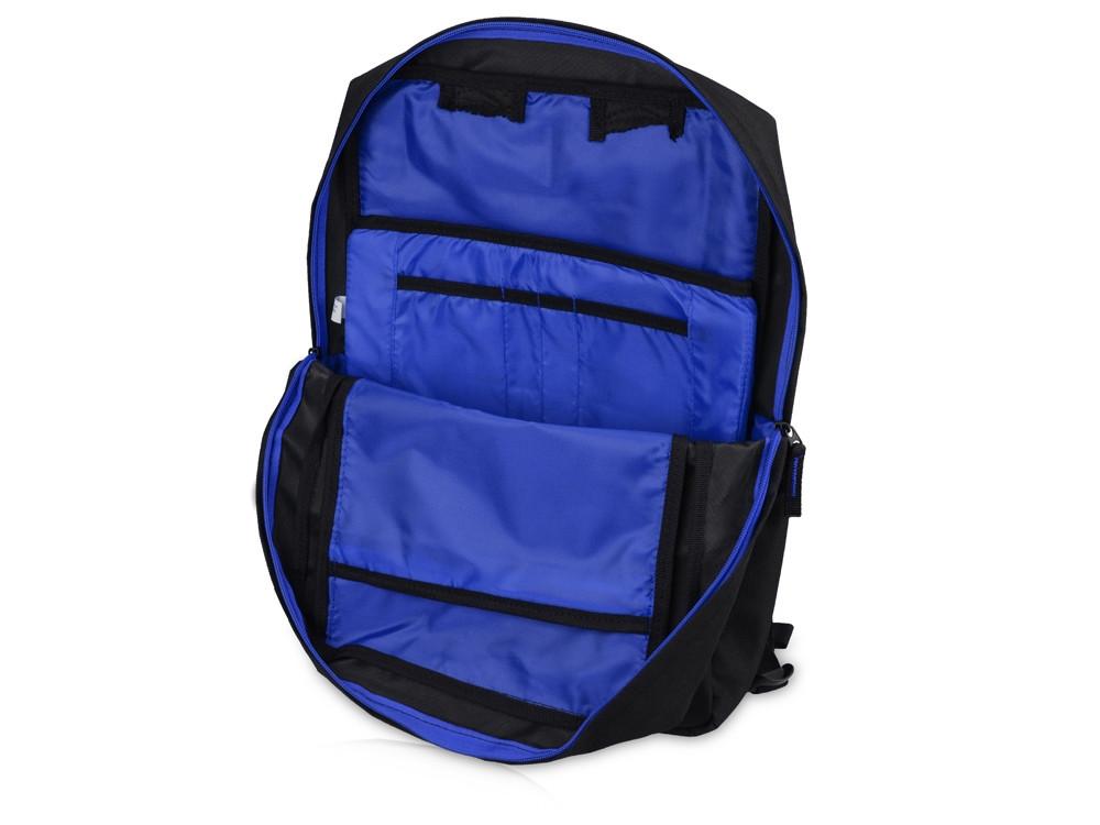 Рюкзак Boston для ноутбука 15,6, черный/ярко-синий - фото 5