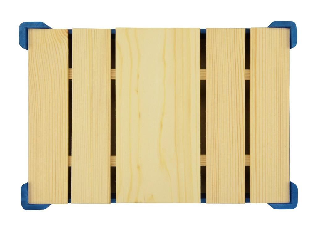 Подарочная деревянная коробка, синий - фото 4