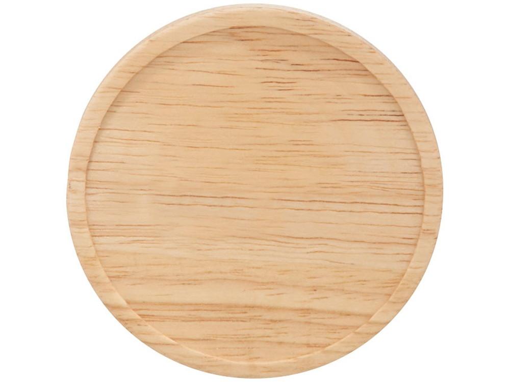 Керамическая чашка Hearth с деревянной крышкой-костером, черный/белый - фото 3