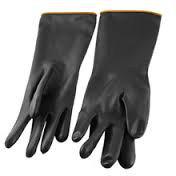 Перчатки КЩ резиновые черные