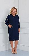 Платье Диамант-1452, темно-синий, 54