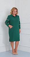 Платье Диамант-1452/1, зеленый, 56