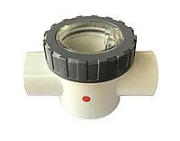 PVC клапан обратный с прозрачной крышкой d50 V40-1E