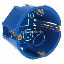 Коробка распределительная для закрытого монтажа для Г/К круглая синяя 78х44 мм