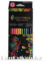 Набор цветных карандашей 12 шт трехгранные Color Pencils YL817151-12
