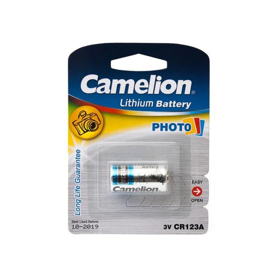 Батарейка Camelion CR123A-BP1, 3V, 1300 mAh, Lithium (1 шт.)