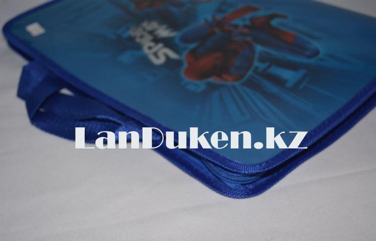 Детская папка-портфель с тканными ручками Человек Паук формат A4 синяя L4310 - фото 2