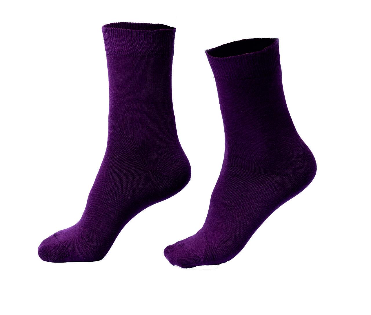 Женские носки однотонные, бордовые