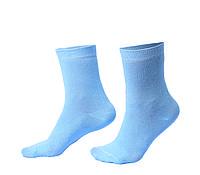 Женские носки однотонные, голубые