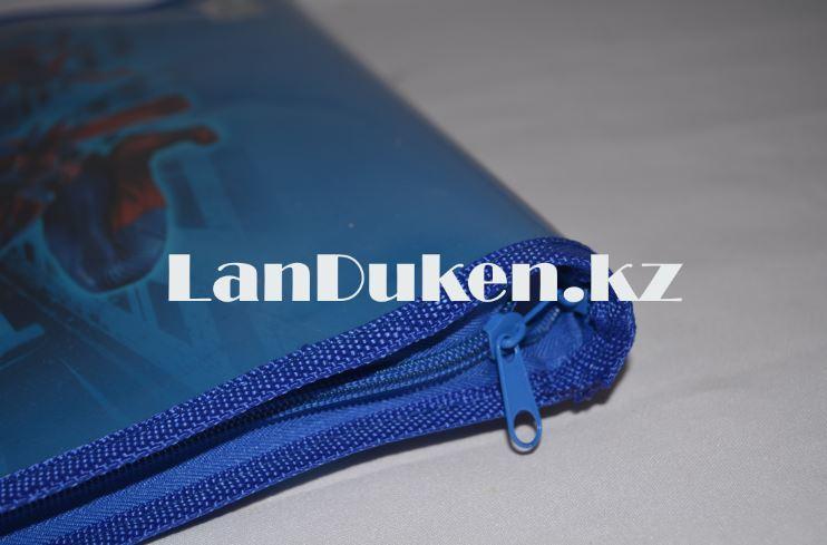 Детская папка-портфель с тканными ручками Человек Паук формат A4 синяя L4310 - фото 3