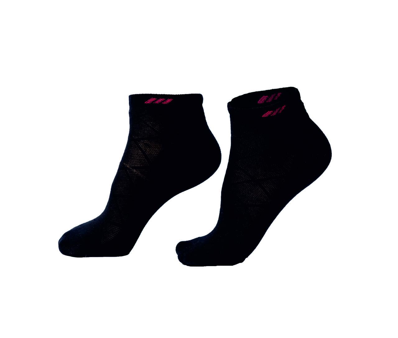 """Женские носки """"Sport"""", короткие, черные с принтом"""