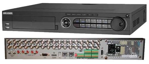 DS-7332HGHI-SH - 32-х канальный гибридный видеорегистратор с разрешением записи до 2MP на канал, с 4 SATA-интерфейсами.