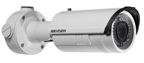 DS-2CD2610F-I - 1,3MP Уличная варифокальная (фокус - ручной) цилиндрическая IP-камера с ИК-подсветкой, на кронштейне.