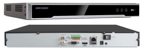 DS-7608NI-K2 - 8-ми канальный сетевой 4К-видеорегистратор.