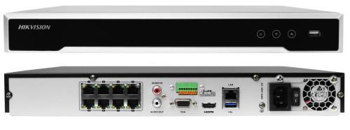 DS-7616NI-E2/8P - 16-ти канальный сетевой 6МP-видеорегистратор с 8-ю PoE-портами.