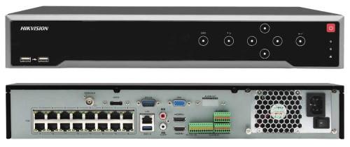 DS-7716NI-I4/16P - 16-ти канальный сетевой 12МP-видеорегистратор с 4-мя SATA-интерфейсами и 16-ю РоЕ-портами.