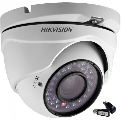 DS-2CE56C2T-IRM + DS-1H18 - Комплект 1,3MP уличной купольной  HDTVI 720P камеры с ИК-подсветкой и видеобаллунов.