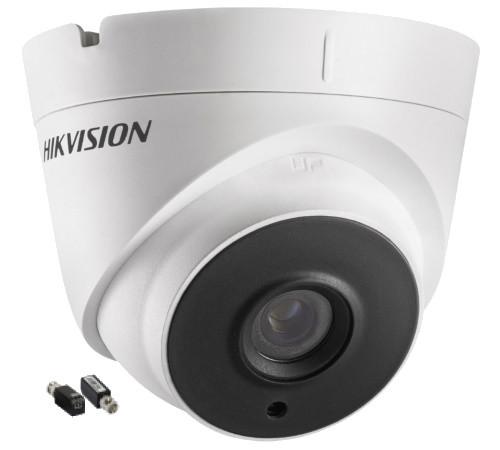 DS-2CE56F7T-IT1 + DS-1H18 - Комплект 3MP уличной купольной  HDTVI камеры с EXIR* ИК-подсветкой и видеобаллунов.