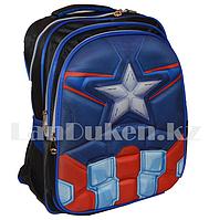 Универсальный школьный рюкзак каркасный Капитан Америка