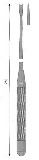 Вилка для спускания лигатуры на сосуды, прямая № 2