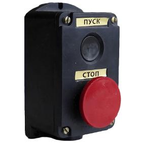 Кнопка ПКЕ 222-2 (кнопка черн. и крас.), фото 2