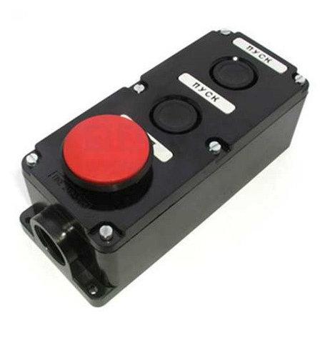 Кнопка ПКЕ 222-3 (кнопка 2-черн. и 1-красн.), фото 2