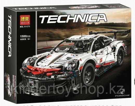 Конструктор bela  Technica «Porsche 911 RSR» 11171 (Аналог LEGO Technic 42096), 1580 деталей