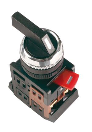 Кнопка ALCLR-22 (черный.на 3 полож), фото 2