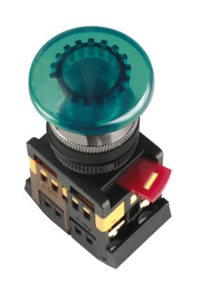 Кнопка AELA-22 (грибок неон зел., красн., оранж.), фото 2