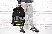 Рюкзак с боковыми карманами, черный с желтым