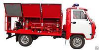 Пожарная машина на шасси УАЗ 900 литров