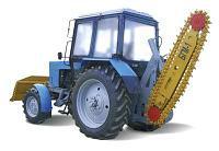 Траншеекопатель на базе трактора МТЗ Белорус