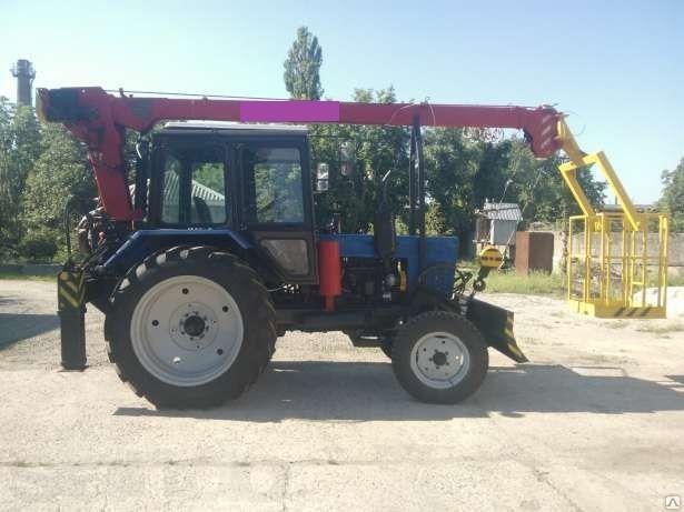 Автовышка на тракторе МТЗ 12 метров