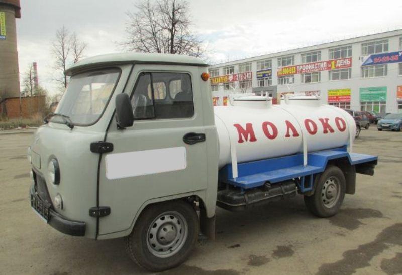Молоковоз для пищевых жидкостей УАЗ 1200-1500 литров