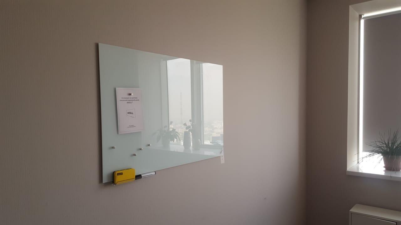 Доска стекло-маркерная, 600х900 мм, настенная, c внутренними креплениями (LUX) ASKELL
