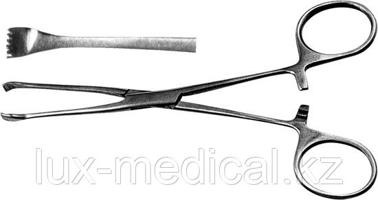 Зажим для захватывания кишечной стенки, 152 мм