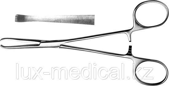 Зажим для захватывания кишечной стенки д/новор., 140 мм