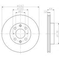 Тормозные диски Honda Civic (87-91, Optimal, D242, передние)