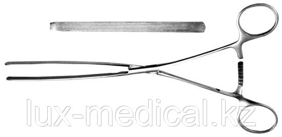 Зажим кишечный эластичный д/детей, прямой, 200 мм